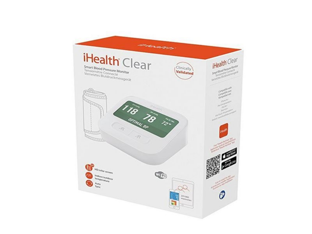 Picture of WIRELESS BLOOD PRESSURE MONITOR iHEALTH CLEAR BPM1